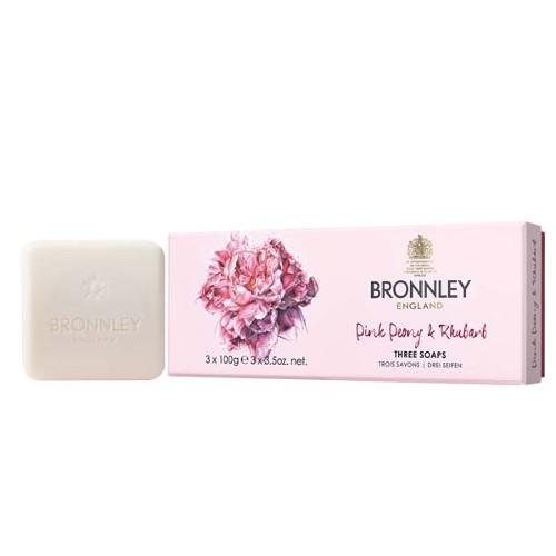 Bronnley Nádherná sada luxusních tuhých mýdel v dárkové krabičce (Three Soaps) 3 x 100 g