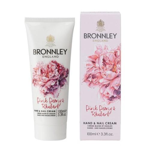Bronnley Vyživujúci krém na ruky a nechty Pivoňka a rebarbora (Hand & Nail Cream) 100 ml
