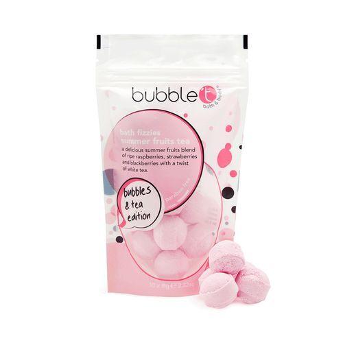Bubble T Cosmetics Mini šumivé koupelové bomby letní ovoce (Bath Bomb Fizzer Summer Fruits) 10 x 8 g