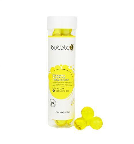 Bubble T Cosmetics Olejové kuličky do koupele citronová tráva a zelený čaj (Bath Pearls) 25 x 4 g