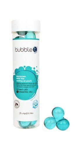 Bubble T Cosmetics Olejové kuličky do koupele marocká máta (Bath Pearls) 25 x 4 g