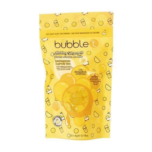Bubble T Cosmetics Olejové perly do koupele citronová tráva a zelený čaj (Bath Pearls) 20 x 4 g