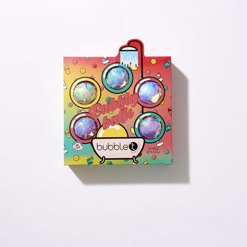 Bubble T Cosmetics Sada šumivých bomb Bombs Away (Bath Bombs) 5 x 100 g