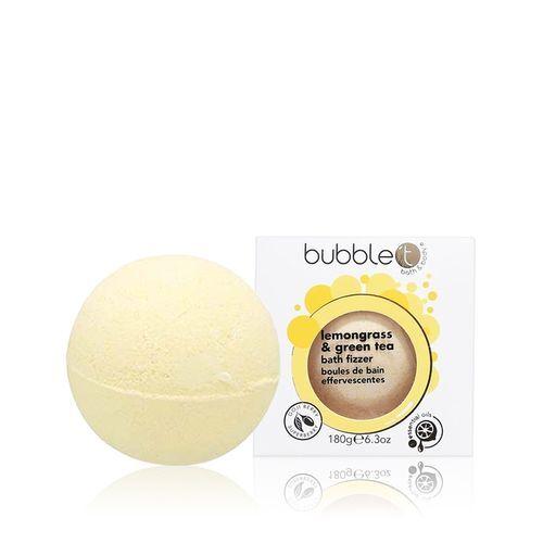 Bubble T Cosmetics Šumivá kupelová bomba citronová tráva a zelený čaj (Bath Bomb Fizzer) 180 g