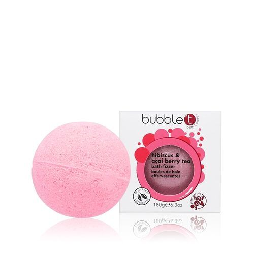 Bubble T Cosmetics Šumivá kupelová bomba ibišek a divoká jahoda (Bath Bomb Fizzer) 180 g