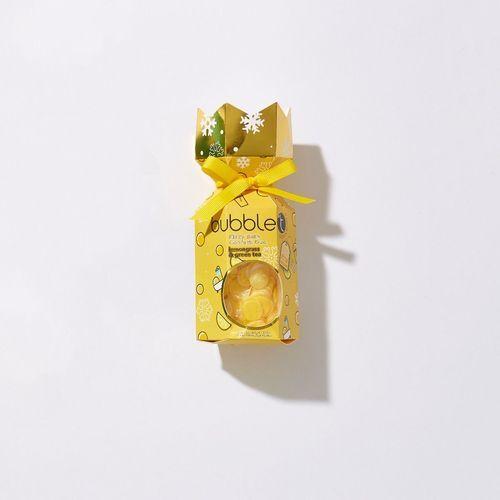 Bubble T Cosmetics Vánoční crecker s šumivou bombou do koupele a konfetami - citronová tráva (Fizzy Bath Confetti duo) 40 g