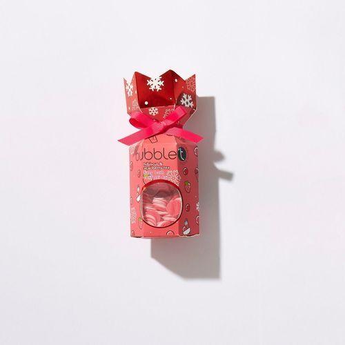 Bubble T Cosmetics Vánoční crecker s šumivou bombou do koupele a konfetami - ibišek (Fizzy Bath Confetti duo) 40 g