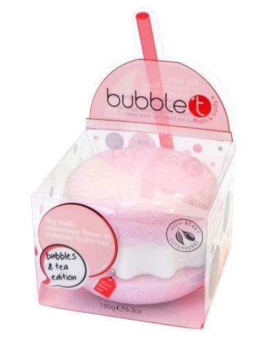 Bubble T Cosmetics Velká šumivá makronka do koupele (Big Macaroon Bath Fizzer) 180 g