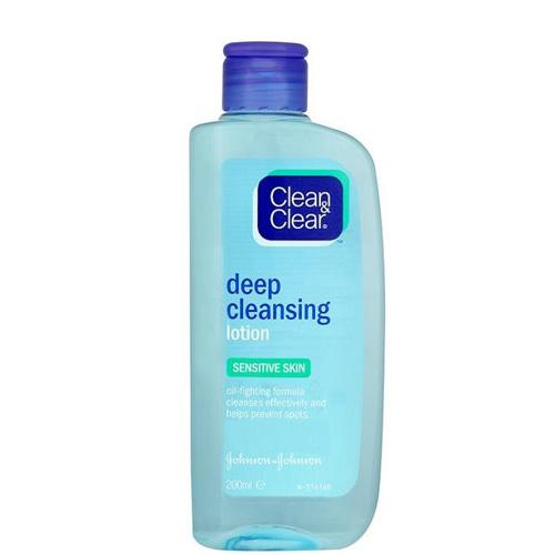 Clean & Clear Hloubkově čisticí pleťová voda pro citlivou pleť (Deep Clansing Lotion For Sensitive Skin) 200 ml