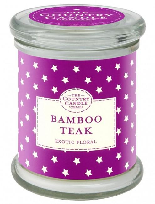 Country Candle Vonná svíčka ve skle s víčkem Bambus a teakové dřevo (Bamboo Teak) 848 g