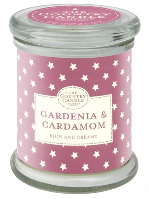 Country Candle Vonná svíčka ve skle s víčkem Gardénie a kardamon (Gardenia & Cardamom) 848 g