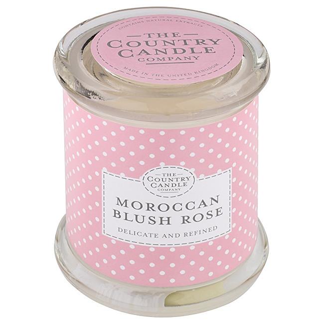 Country Candle Vonná svíčka ve skle s víčkem Marocká růže (Moroccan Blush Rose) 848 g