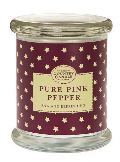 Country Candle Vonná svíčka ve skle s víčkem Růžový pepř (Pure Pink Pepper) 848 g