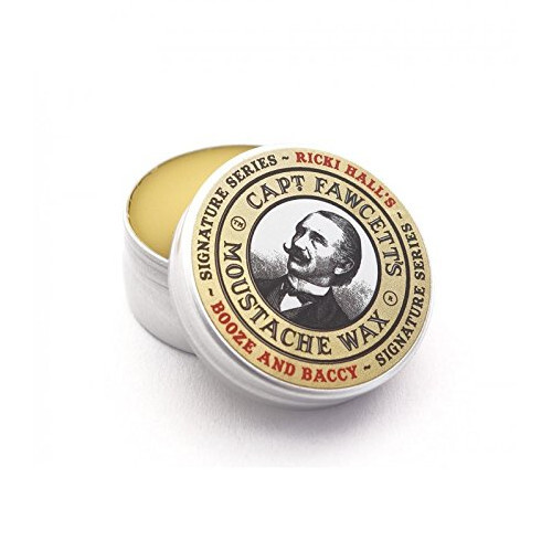 Captain Fawcett Vosk na knír Ricki Hall`s Booze & Baccy (Moustache Wax) 15 ml