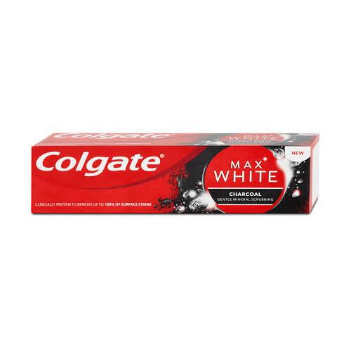 Colgate Bieliace zubná pasta s aktívnym uhlím Max White Charcoal 75 ml