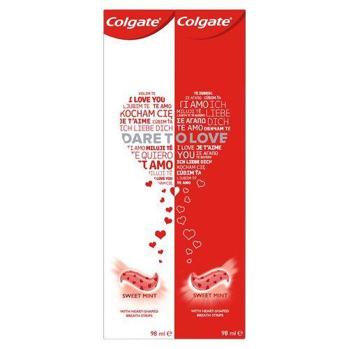 Colgate Limitovaná edice zubních past Dare to Love 2 x 98 ml