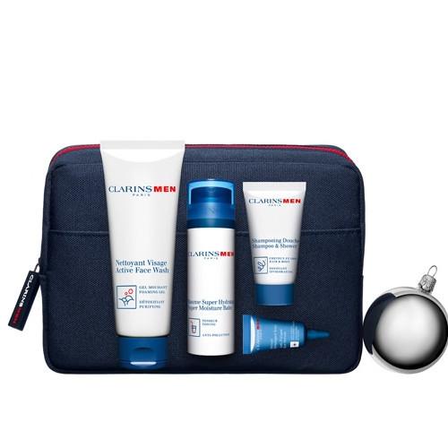 Clarins hydratační balzám 50 ml + pěnivý gel 125 ml + šampon 30 ml + oční sérum 3 ml + kosmetická taška dárková sada