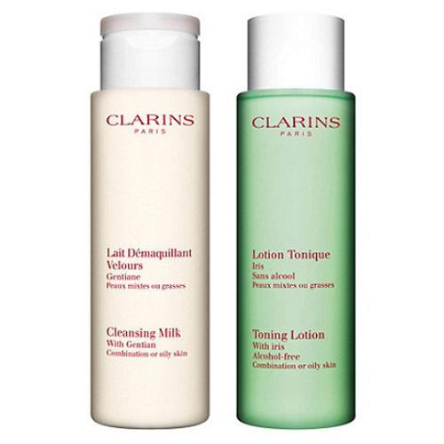 Clarins Duoset čisticí pleťové péče pro smíšenou až mastnou pleť (Cleansing Duo Combination or Oily Skin) 2 x 400 ml