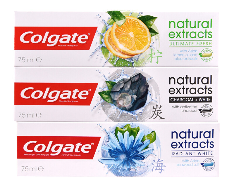 Colgate Zubní pasta Natural Extracts Mix Trio 3 x 75 ml