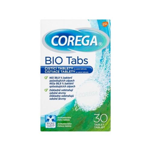 Corega Čisticí tablety na zubní náhrady Bio Tabs 30 ks - SLEVA - poškozená krabička