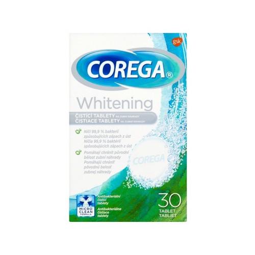 Corega Čisticí tablety na zubní náhrady Whitening 30 ks