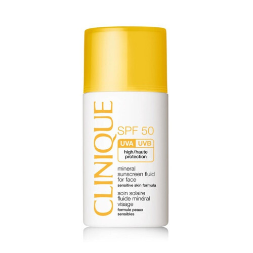 Clinique Minerálne opaľovacie fluid na tvár SPF 50 ( Mineral Sunscreen Fluid For Face) 30 ml