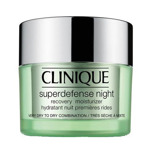 Clinique Nočný hydratačný krém pre suchú až zmiešanú pleť Superdefense (Night Recovery Moisturizer Very Dry To Dry Combination Skin) 50 ml