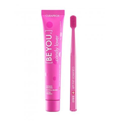 Curaprox Be You 90 ml Bělící zubní pasta Candy lover pink + CS 5460 Set