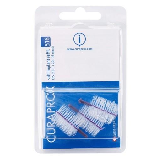 Curaprox Náhradní mezizubní kartáčky na čištění implantátů Soft Implant Fialová (Refill) CPS 516 5 ks