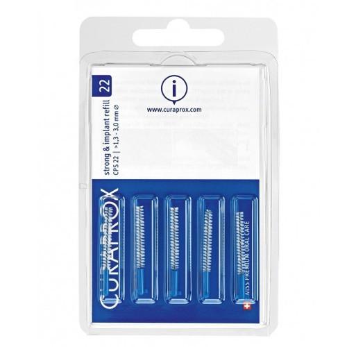 Curaprox Náhradní mezizubní kartáčky na čištění implantátů Strong & Implant Modrá (Refill) 28 CPS 22 5 ks
