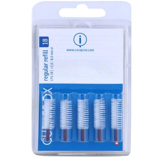 Curaprox Náhradní mezizubní kartáčky Regular CPS 18 - 8,0 mm Fialové (Refill) 5 ks