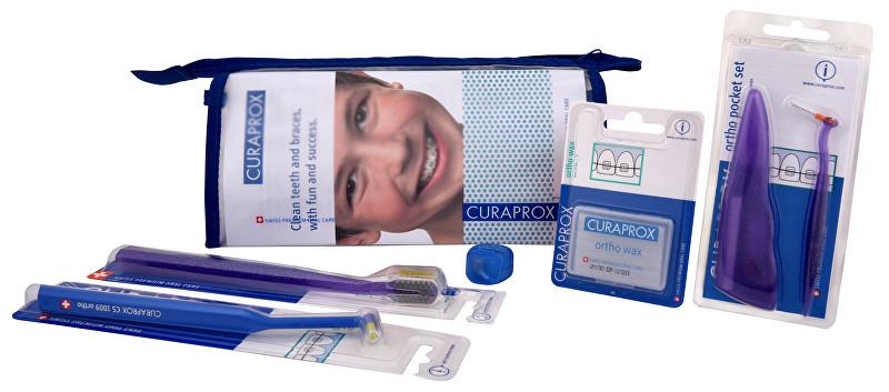 Curaprox CS Ortho Kit profesionální sada péče o zuby s rovnátky 6ks