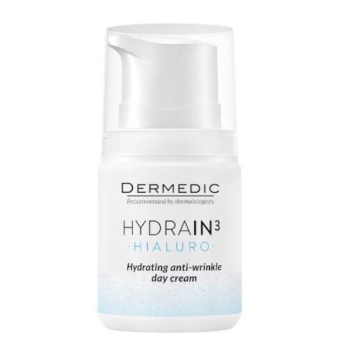 DERMEDIC Hydratační denní krém proti vráskám pro dehydratovanou suchou pleť SPF 15 Hydrain3 Hialuro 55 g