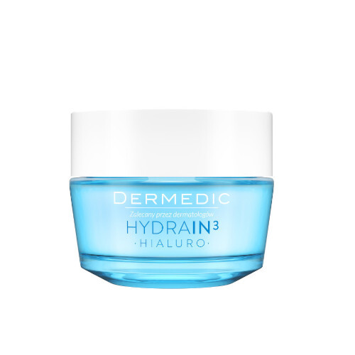 DERMEDIC Intenzivně hydratační krémový gel pro suchou až velmi suchou pleť Hydrain3 Hialuro 50 g