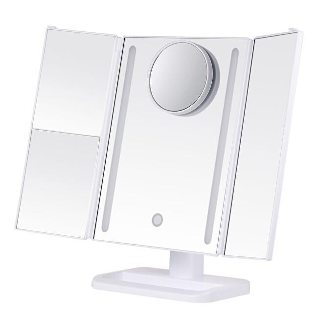 Deveroux Kosmetické bílé LED zrcátko dobíjecí MR-L3013Aosm - SLEVA - poškozený obal