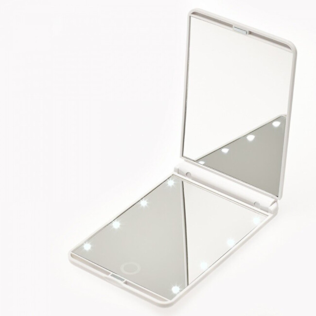 Deveroux Kosmetické kapesní LED bílé zrcátko MR-L210