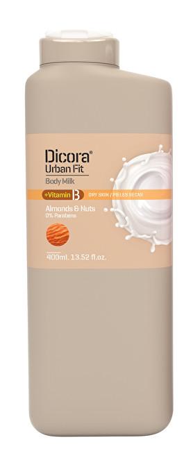 Dicora Tělové mléko s vitamínem B Mandle & ořechy (Body Milk) 400 ml