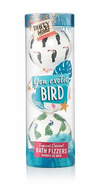Dirty Works Darčeková sada šumivých bômb do kúpeľa Exotic Bird