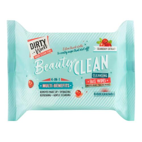 Dirty Works Vlhčené odličovacie obrúsky Beauty Clean ( Clean sing Face Wipes)
