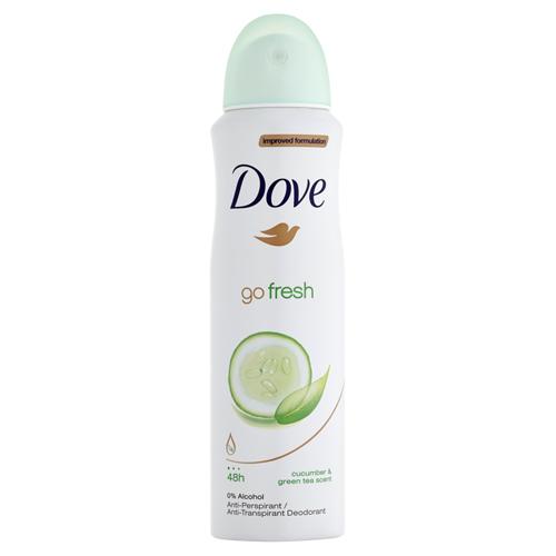 Dove Antiperspirant ve spreji Go Fresh s vůní okurky a zeleného čaje (Cucumber & Green Tea Scent) 150 ml