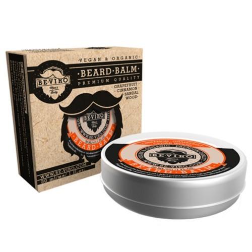 BE-VIRO Balzám na vousy s vůní grepu, skořice a santalového dřeva (Beard Balm) 30 ml