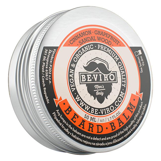 Beviro Balzám na vousy s vůní grepu, skořice a santalového dřeva (Beard Balm) 30 ml