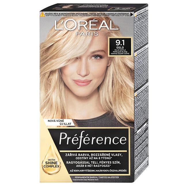 L´Oréal Paris Permanentní barva na vlasy Préférence 10.21 Stockholm Velmi světlá perlová blond