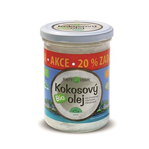 Purity Vision BIO Panenský kokosový olej lisovaný za studena PURITY VISION 100 ml + 20% Zdarma