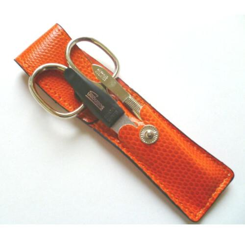 DuKaS Cestovní manikúrová sada oranžová PL880