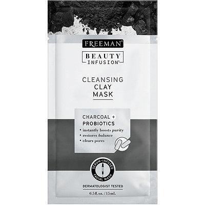 Freeman Čisticí jílová maska Aktivní uhlí a probiotika Beauty Infusion (Cleansing Clay Mask) 118 ml