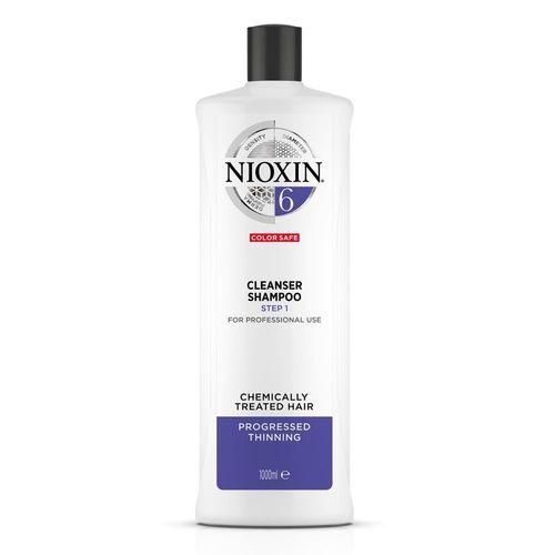 Nioxin Čisticí šampon pro řídnoucí normální až silné přírodní i chemicky ošetřené vlasy System 6 (Shampoo Cleanser System 6) 300 ml