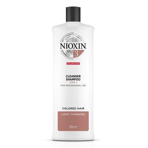 Nioxin Čisticí šampon pro jemné barvené mírně řídnoucí vlasy System 3 (Shampoo Cleanser System 3) 300 ml