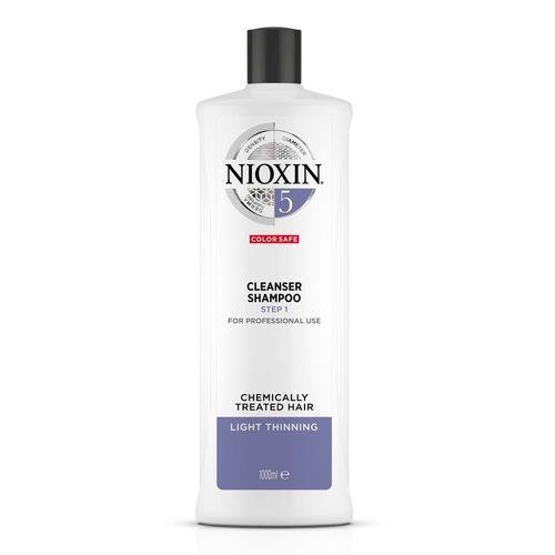 Nioxin Čisticí šampon pro normální až silné přírodní i barvené mírně řídnoucí vlasy System 5 (Shampoo Cleanser System 5) 1000 ml
