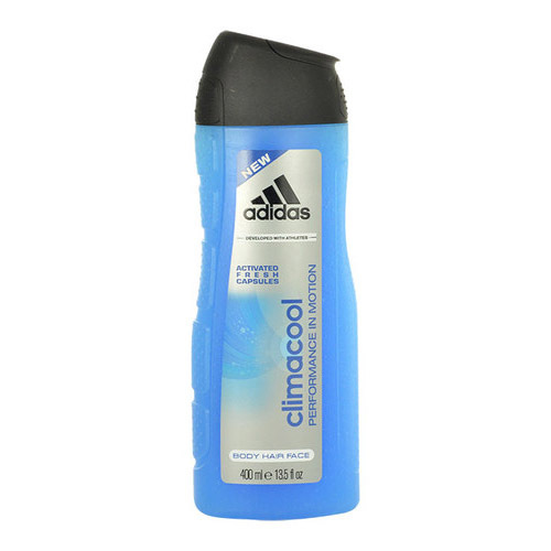 Adidas Gel de duș 3in1 pentru bărbați ClimaCool(Shower Gel Body Hair Face) 400 ml